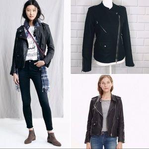 Madewell Black Wool Moto Jacket